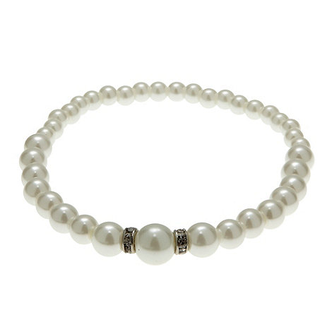Finesse - Ivory graduating pearl stretch bracelet
