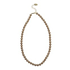 Finesse - Light brown 8mm pearl necklace