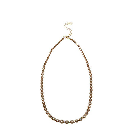 Finesse - Light brown graduating pearl necklace