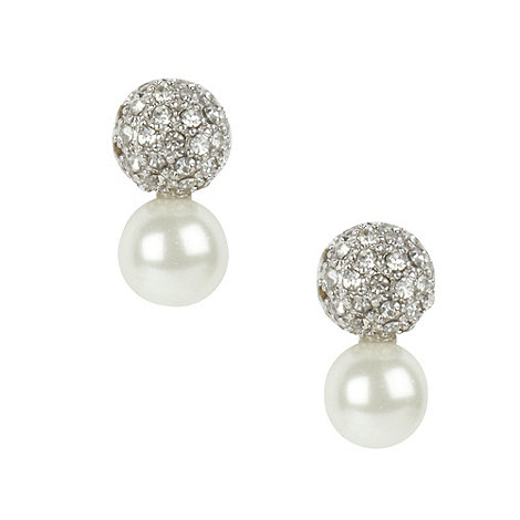 Finesse - Light pink pave ball earrings