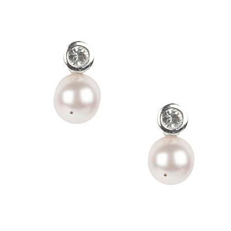 Finesse - Light pink pearl and diamante earrings