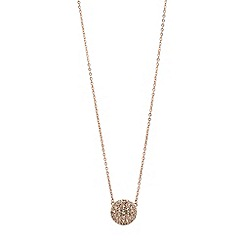 Fossil - Rose gold round chain pendant
