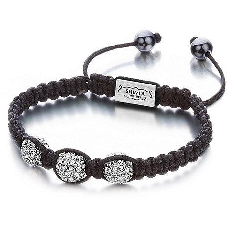 Shimla - Silver fireball beaded bracelet