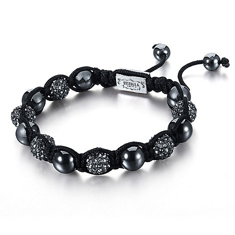 Shimla - Gunmetal bead and fireball bracelet