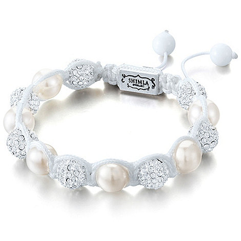 Shimla - Cream bead and fireball bracelet