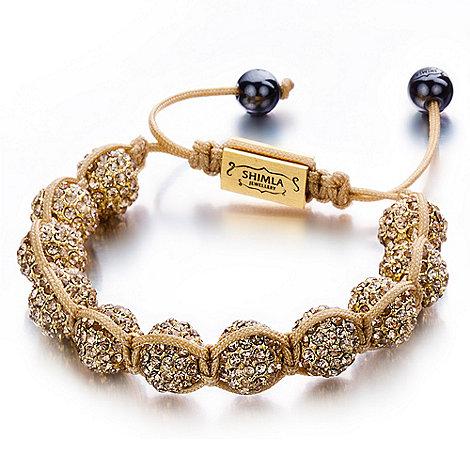 Shimla - Gold string fireball bracelet