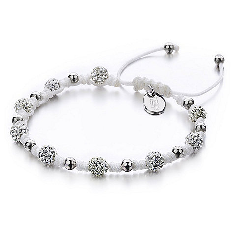 Shimla - White mini bead and fireball bracelet