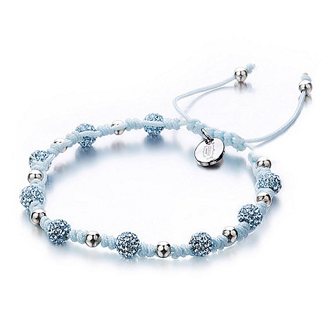 Shimla - Turquoise knotted pave beaded bracelet