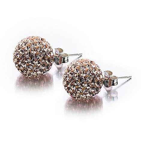 Shimla - Rose large fireball stud earrings