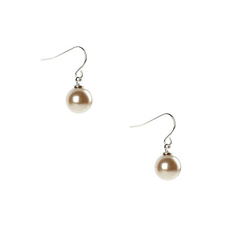 Finesse - Bronze pearl drop earrings