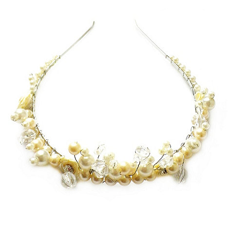 Johnny loves Rosie - Cream crystal and pearl tiara