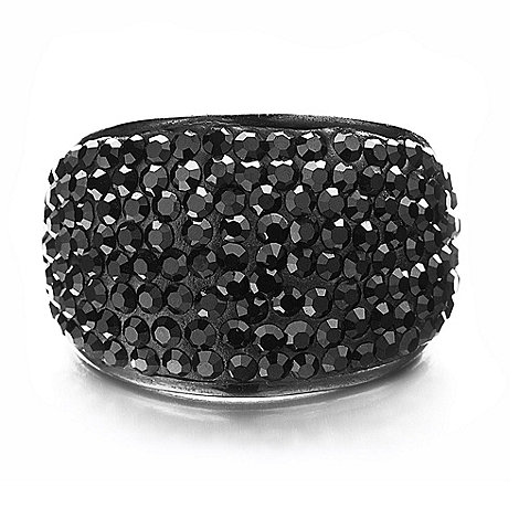 Shimla - Black bling ring