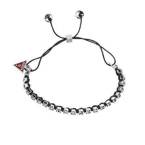 Guess - Black cord diamante bracelet