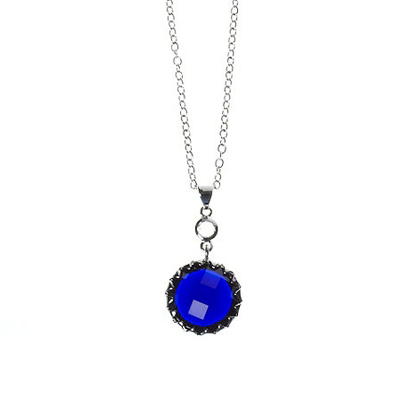 Finesse - Blue round stone necklace