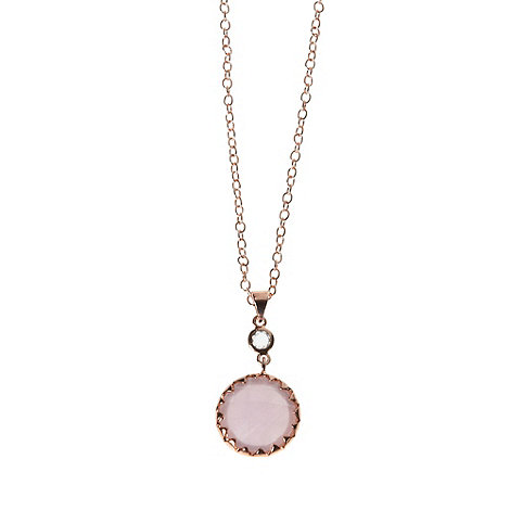 Finesse - Pale pink round pendant necklace