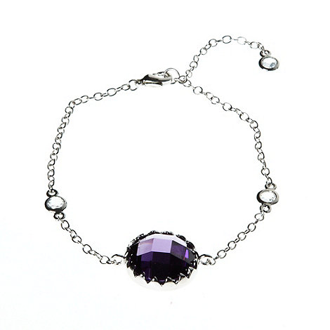 Finesse - Purple round stone bracelet