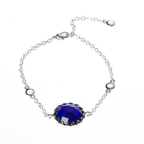 Finesse - Dark blue round stone bracelet