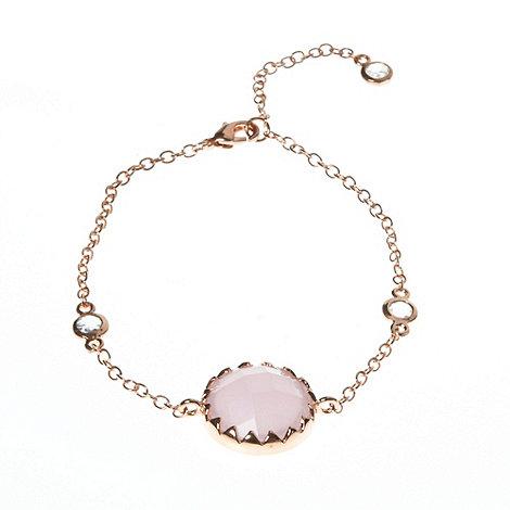 Finesse - Pale pink round stone bracelet