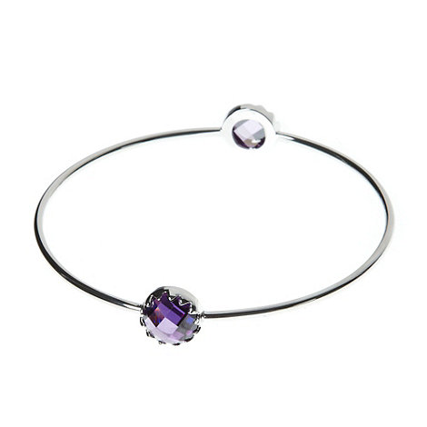 Finesse - Purple double round stone bangle