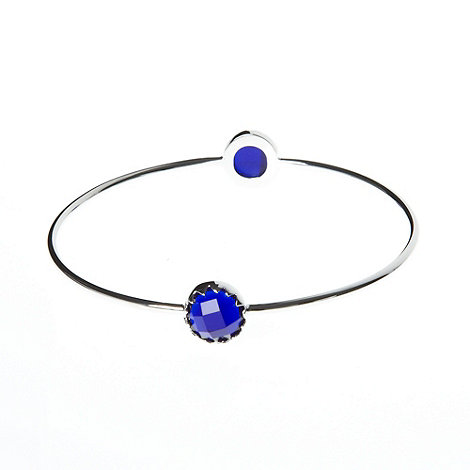 Finesse - Blue double round stone bangle