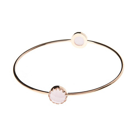 Finesse - Pink double round stone bangle
