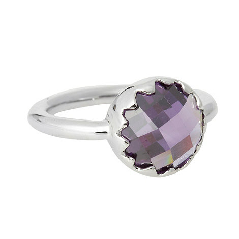 Finesse - Purple small round stone ring