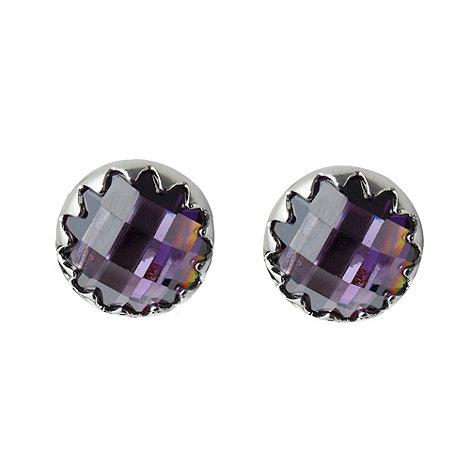 Finesse - Purple faceted stone stud earrings