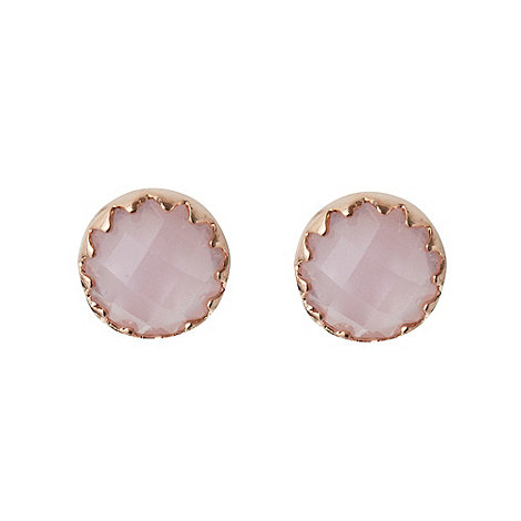 Finesse - Pale pink faceted stone stud earrings