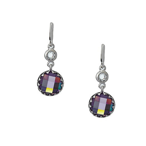 Finesse - Light amethyst stone drop earrings
