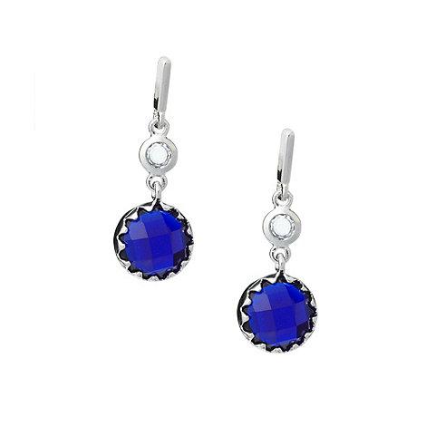 Finesse - Dark blue stone drop earrings