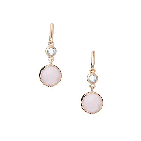 Finesse - Pale pink stone drop earrings