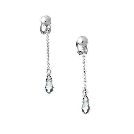 Finesse - Silver crystal bead drop earrings