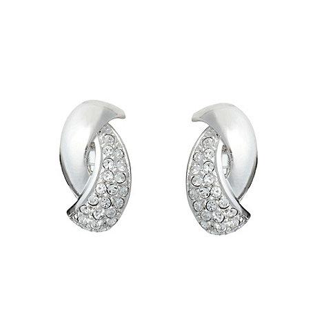 Finesse - Silver stone twist earrings