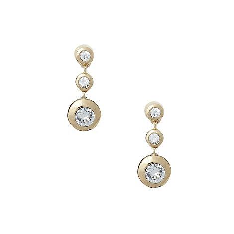 Finesse - Gold triple stone drop earrings