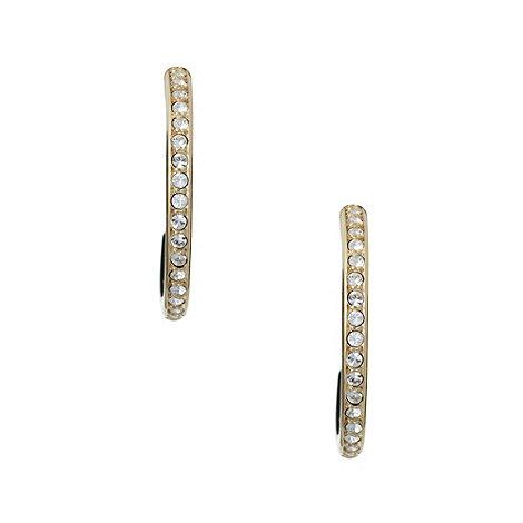 Finesse - Gold stone clip hoop earrings