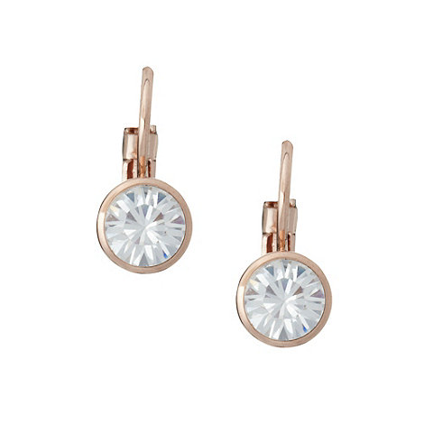 Finesse - Rose gold stone drop earrings