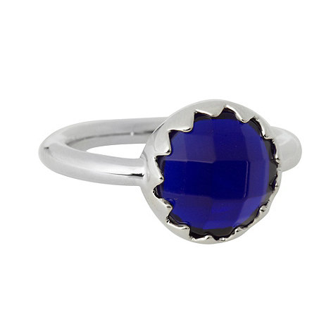 Finesse - Blue large round stone ring
