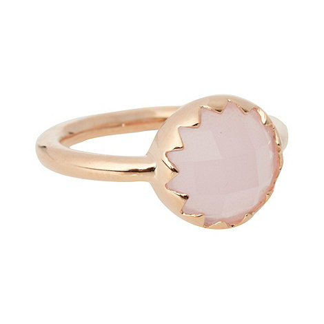 Finesse - Large pale pink round stone ring