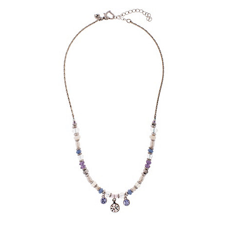 Martine Wester - Silver crystal bead necklace