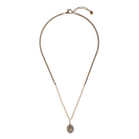 Martine Wester - Gold pearl pendant necklace