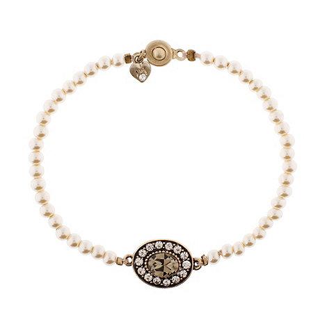 Martine Wester - Gold crystal & pearl bracelet