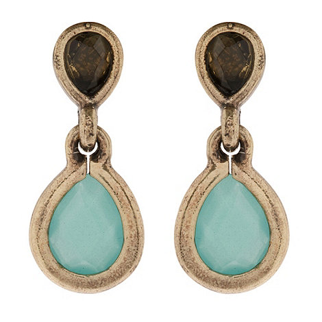 Martine Wester - Turquoise teardrop drop earrings