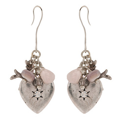 Martine Wester - Silver heart drop earrings