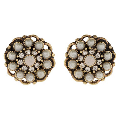 Martine Wester - Gold pearl stud earrings