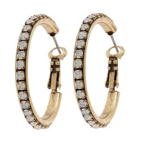 Martine Wester - Gold crystal hoop earrings