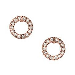 Pilgrim - Rose diamante ring earrings