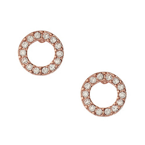 Pilgrim - Rose diamante ring earrings