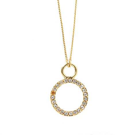 Pilgrim - Gold 2-in-1 diamante ring necklace
