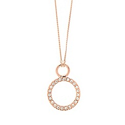 Pilgrim - Bronze diamante toggle 2-in-1 necklace