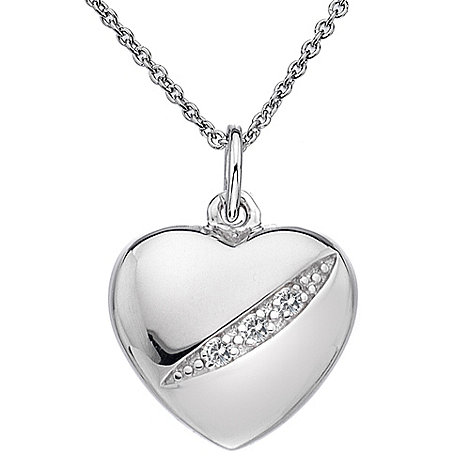 Hot Diamonds - Sterling silver diamond heart pendant